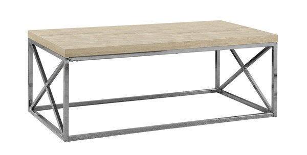 Monarch Specialties Natural Metal Coffee Table MNC-I-3208