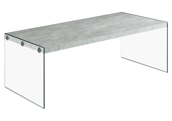 Monarch Specialties Grey Clear Coffee Table MNC-I-3230