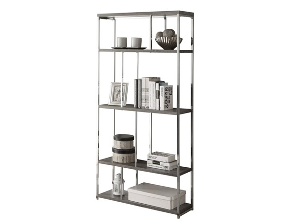 Monarch Specialties Taupe Metal Bookcase MNC-I-3260