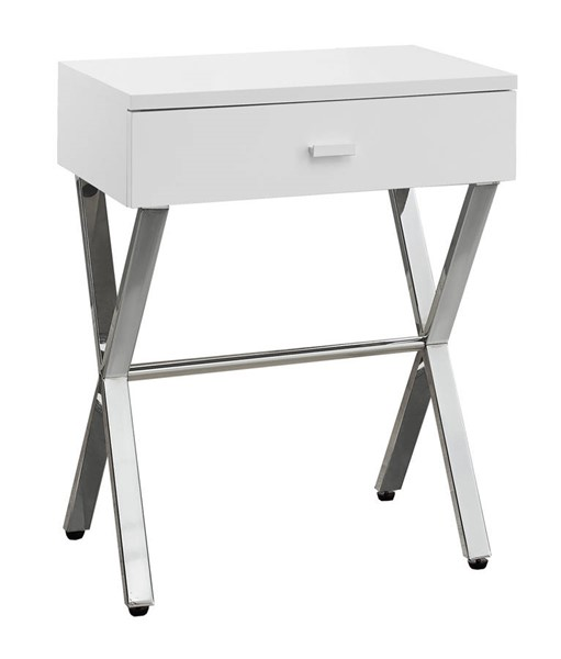 Monarch Specialties White MDF Metal Accent End Table MNC-I-3262