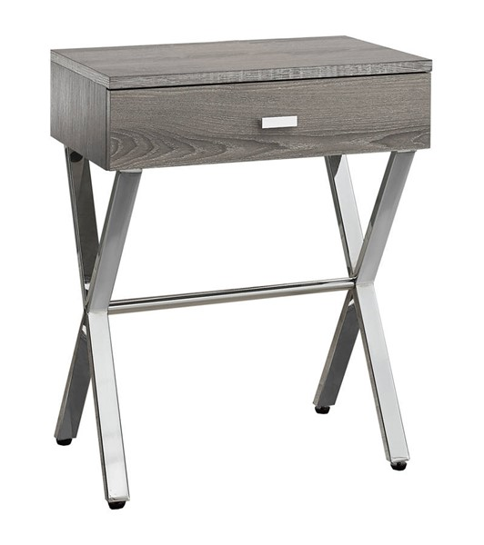 Monarch Specialties Taupe MDF Metal Accent End Table MNC-I-3263