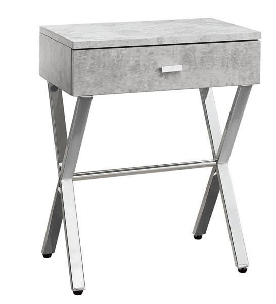 Monarch Specialties Grey MDF Metal Accent End Table MNC-I-3264