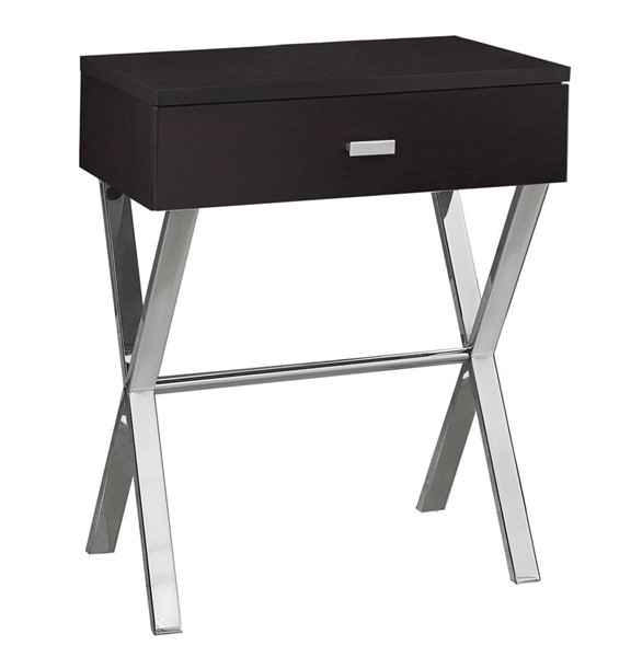 Monarch Specialties Cappuccino MDF Metal Accent End Table MNC-I-3265