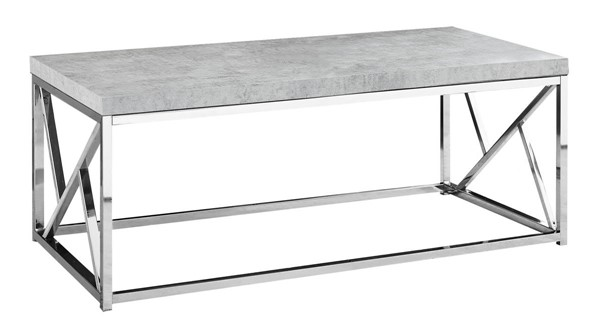 Monarch Specialties Grey Metal Rectangle Coffee Table MNC-I-3375