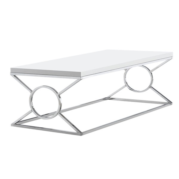 Monarch Specialties Glossy White Coffee Table MNC-I-3400