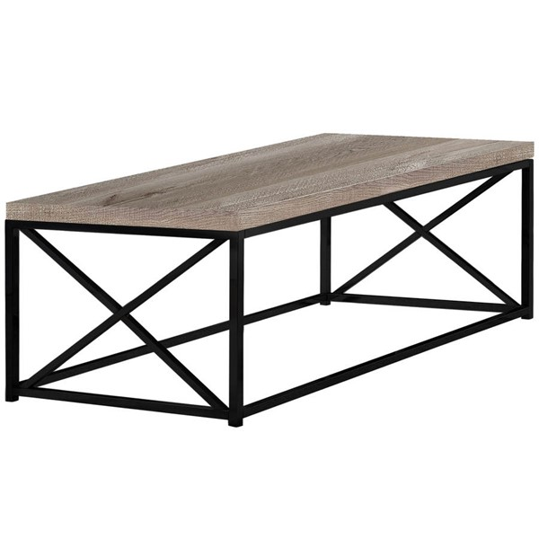 Monarch Specialties Taupe Black Coffee Table MNC-I-3418