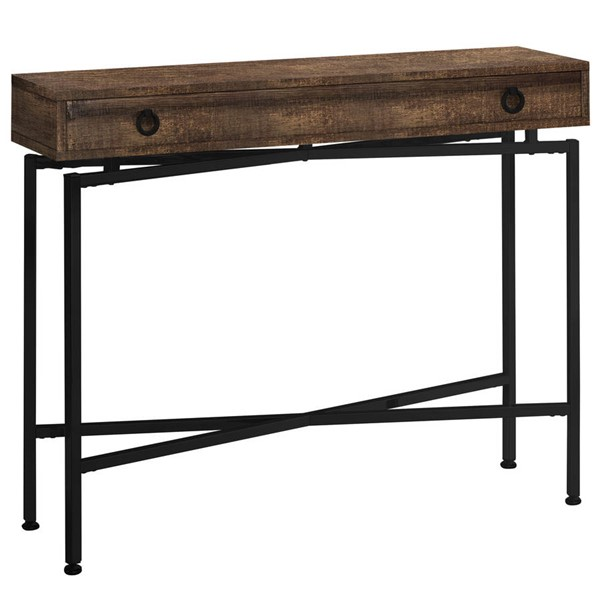 Monarch Specialties Brown Black Accent Console Table MNC-I-3453