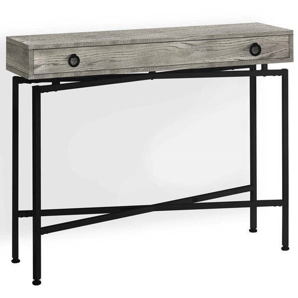 Monarch Specialties Grey Black Accent Console Table MNC-I-3454