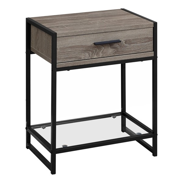 Monarch Specialties Taupe 22 Inch Accent Table MNC-I-3501