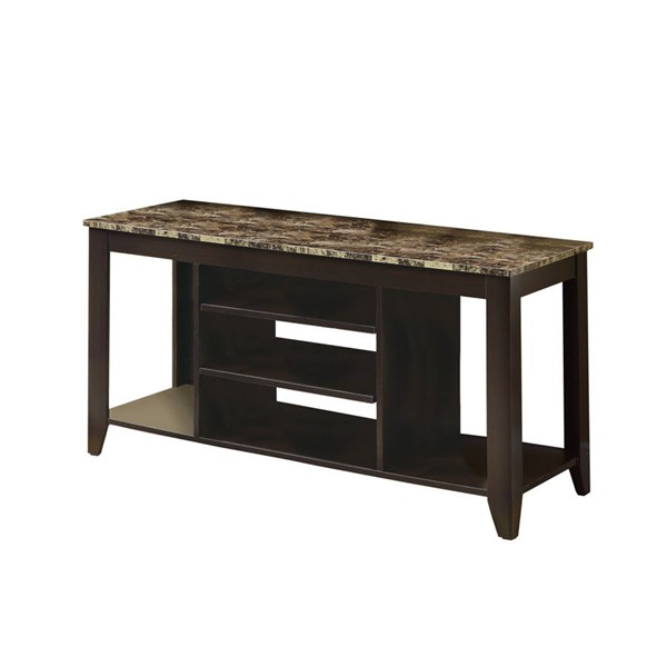 Monarch Specialties Cappuccino Brown MDF Metal TV Stand MNC-I-3525