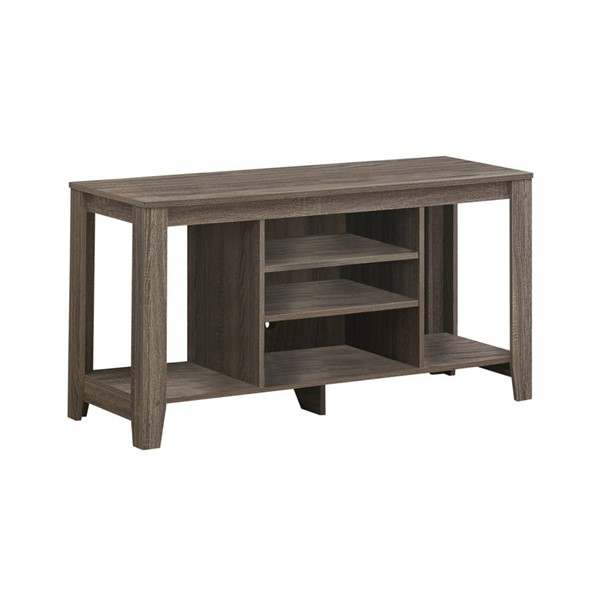 Monarch Specialties Dark Taupe Wood Open Storage TV Stands MNC-I-3528-TS-VAR