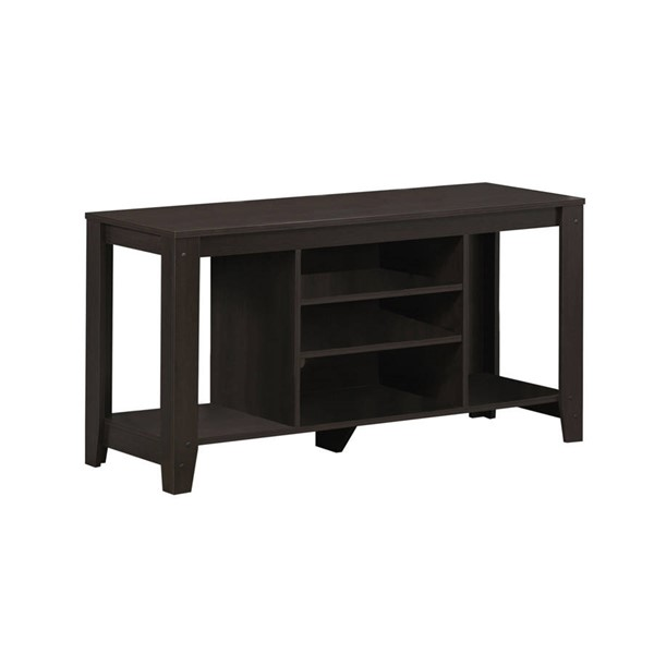 Monarch Specialties Cappuccino Wood Open Storage TV Stand MNC-I-3529