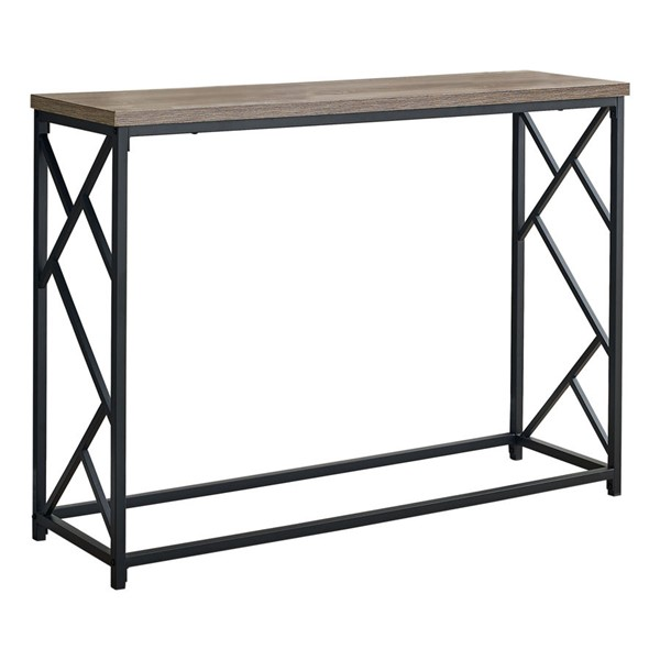 Monarch Specialties Dark Taupe Black 44 Inch Hall Console Accent Table MNC-I-3533