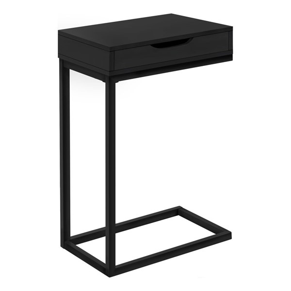 Monarch Specialties Black Metal Drawer Accent Table MNC-I-3600