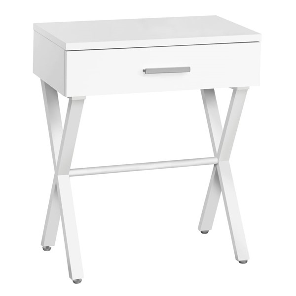 Monarch Specialties White Metal 24 Inch Accent Table MNC-I-3606