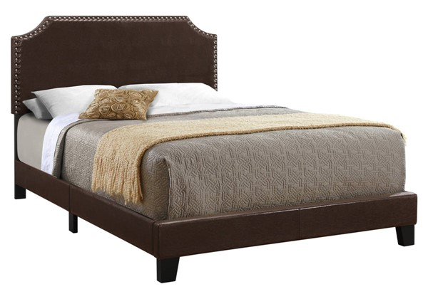 Monarch Specialties Brown Leather Beds MNC-I-5927-BED-VAR