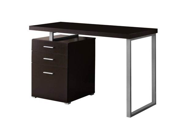 Monarch Specialties Cappuccino Silver Left or Right Facing Computer Desks MNC-I-7026-OD-VAR