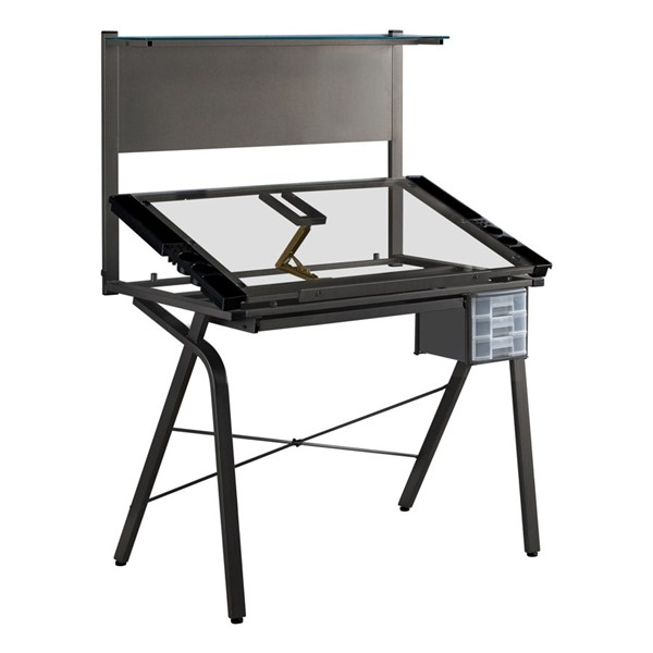 Monarch Specialties Black Drafting Adjustable Office Desk MNC-I-7034