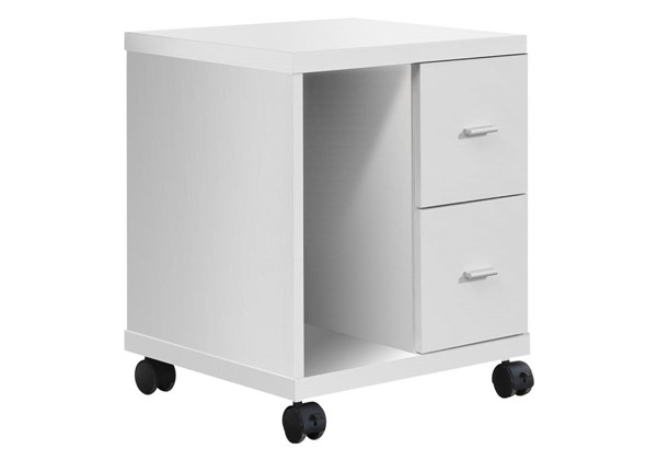 Monarch Specialties White MDF Office Cabinet MNC-I-7055