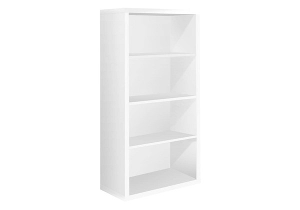 Monarch Specialties White MDF Adjustable Shelves Bookcase MNC-I-7059
