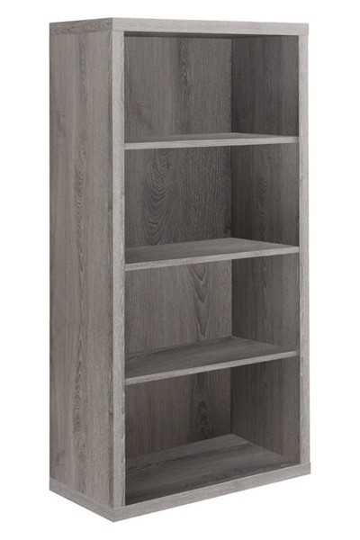 Monarch Specialties Taupe MDF Adjustable Shelves Bookcase MNC-I-7060