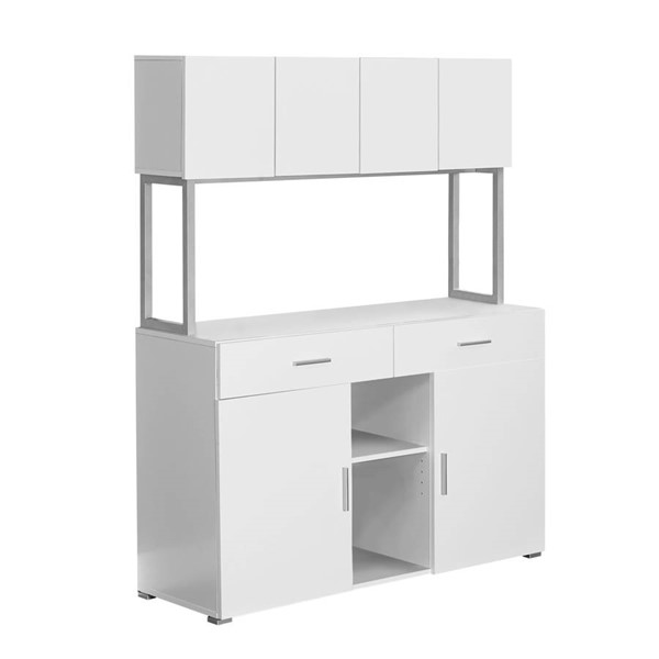 Monarch Specialties White MDF Storage Credenza MNC-I-7066