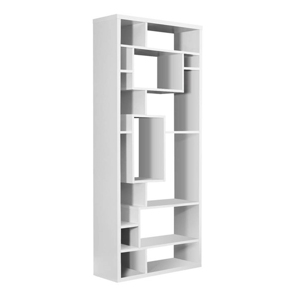 Monarch Specialties White MDF Tall Bookcase MNC-I-7071