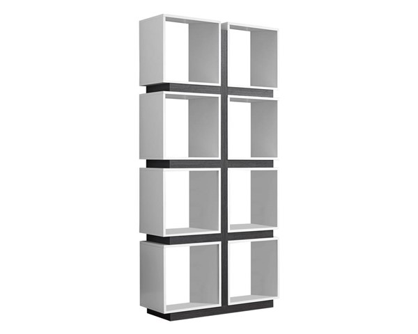 Monarch Specialties White Grey MDF Bookcases MNC-I-7076-BC-VAR
