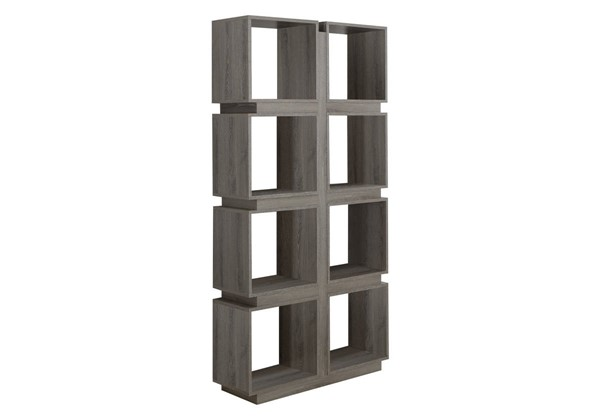 Monarch Specialties Dark Taupe MDF Bookcase MNC-I-7078