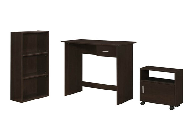 Monarch Specialties Cappuccino 3pc Office Furniture Set MNC-I-7102