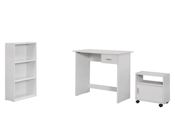 Monarch Specialties White 3pc Office Furniture Set MNC-I-7104