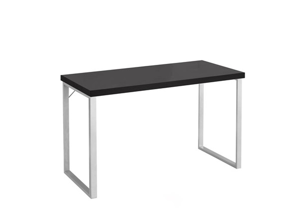 Monarch Specialties Cappuccino MDF Silver Rectangle Computer Desks MNC-I-7153-OD-VAR