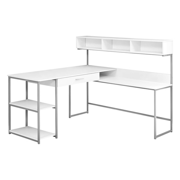 Monarch Specialties White Computer L Desk MNC-I-7162