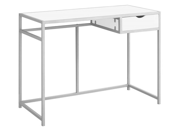 Monarch Specialties White Silver Metal Computer Desks MNC-I-7222-OD-VAR