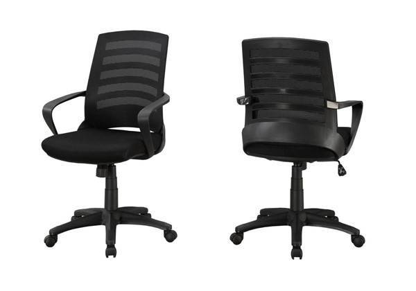 Monarch Specialties Black Polyester Office Chair MNC-I-7224