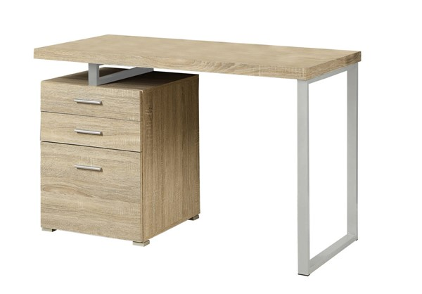 Monarch Specialties Natural Silver Left or Right Facing Computer Desk MNC-I-7226