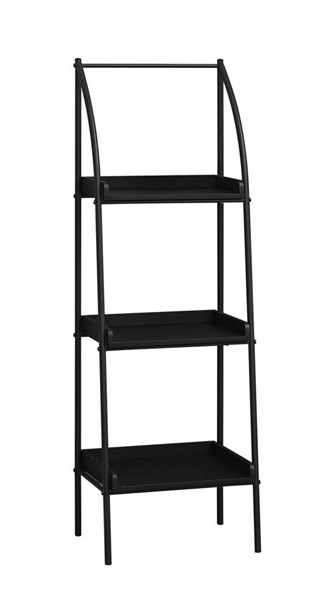 Monarch Specialties Black MDF Metal Tall Bookcases MNC-I-7227-BC-VAR