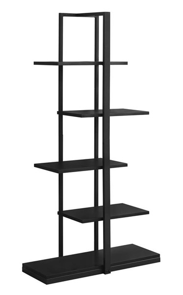 Monarch Specialties Black MDF Tall Bookcase MNC-I-7231