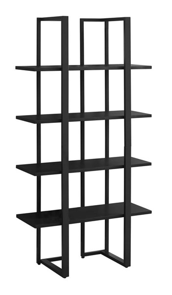 Monarch Specialties Black MDF Metal Bookcase MNC-I-7236