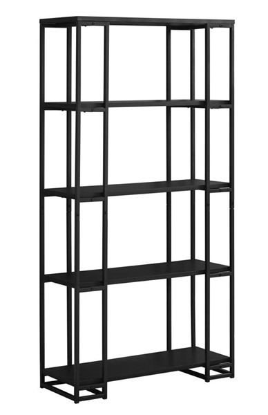 Monarch Specialties Black Tall Bookcase MNC-I-7240