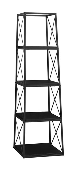 Monarch Specialties Black Metal MDF Bookcase MNC-I-7246