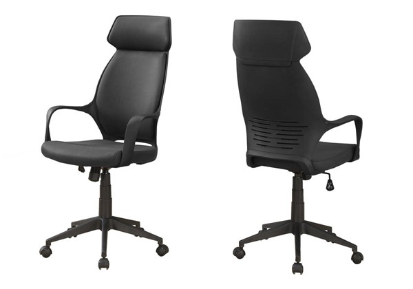 Monarch Specialties Black Microfiber Office Chair MNC-I-7249