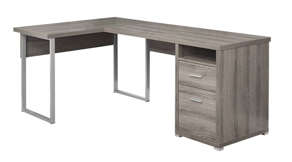 Monarch Specialties Taupe Computer L Desks MNC-I-7255-OLD-VAR