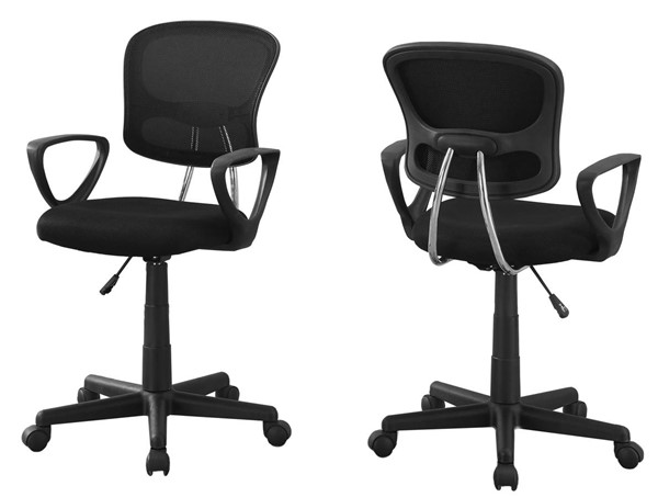 Monarch Specialties Black Fabric Office Chair MNC-I-7260