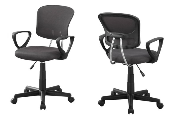 Monarch Specialties Grey Fabric Office Chair MNC-I-7262