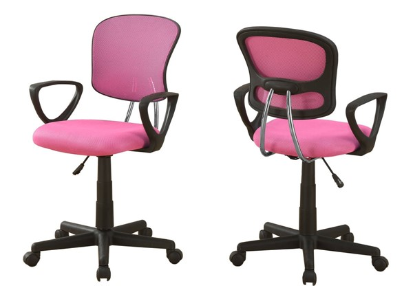Monarch Specialties Pink Fabric Office Chair MNC-I-7263