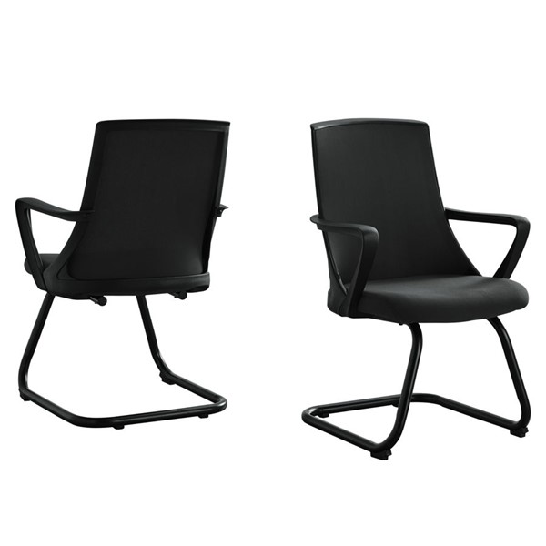 2 Monarch Specialties Black Guest Office Chairs MNC-I-7264