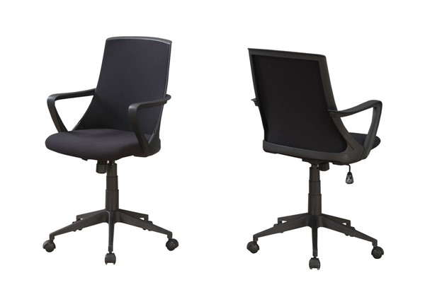 Monarch Specialties Black Polyester Cushion Back Office Chair MNC-I-7267