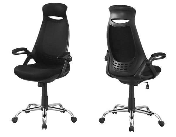 Monarch Specialties Black Polyester High Back Office Chairs MNC-I-7268-OCH-VAR