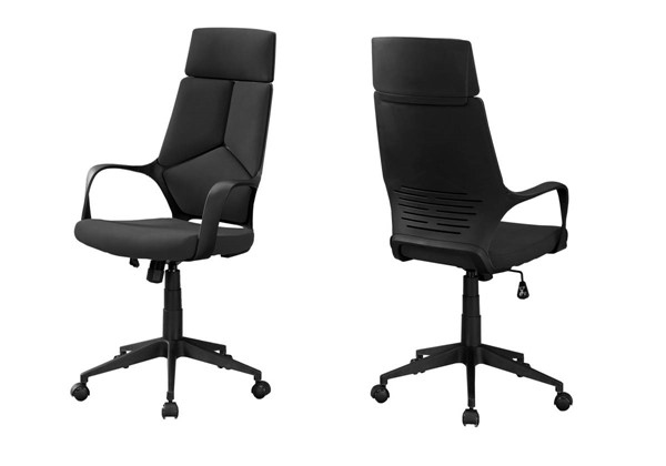 Monarch Specialties Black Fabric High Back Office Chair MNC-I-7272